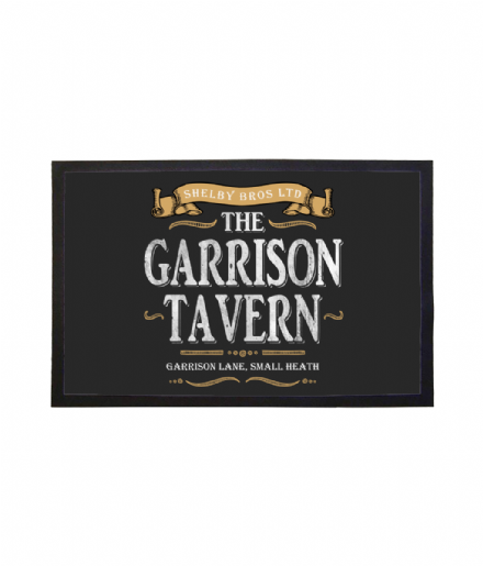 The Garrison Tavern Doormat Welcome Mat Inspired by Peaky Blinders